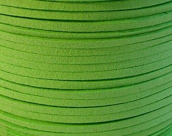 3mm Faux Suede Leather Cord (C46) Neon Green 15 feet 5 Yards for Crafts Jewelry Bracelets Necklace Stringing Suede Lace Shipping from USA