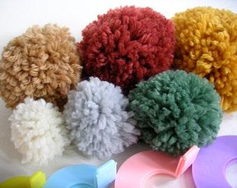 Pom Pom Maker 6 sizes - Make Pompom Garland Pompoms for Hats and more