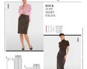 Burda Style Sewing PATTERN - 8155 - Pencil Skirt - Sz 8 -20