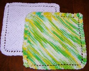Cotton Dishcloths (Set of Two)