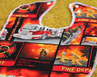 Firefighter Baby and Toddler Bib