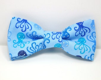 Boy's Bow Tie, Octopus Bowtie, Blue Bowtie, Nautical Bowtie, Boy's Easter Outfit, Boy's tie, Ring Bearer Bowtie