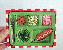 School Lunch- Blank Card