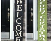 Reversible Front Porch Sign Large Welcome sign Large Merry Christmas Sign Christmas Card Photo prop Rustic welcome sign Oversized Christmas