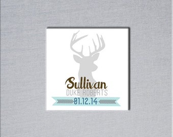 Personalize Your Baby Book with a Deer Name Insert