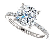 Private Listing for Zac - eliza ring - 2.5 carat cushion cut moissanite engagement ring, payment 1 of 4