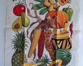 Vintage Linen Towel - Seeds of Change - Smithsonian Souvenir