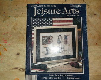 Leisure Arts Magazine August 1989