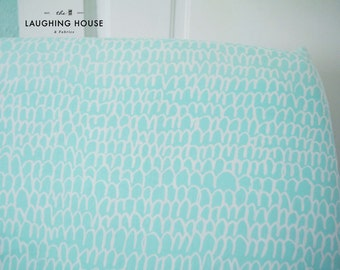 Fitted Crib Sheet (Shrubbery in Turquoise) - Gender Neutral Baby Bedding - Modern Baby - Nursery Fitted Sheet