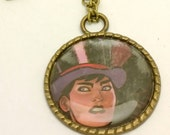 Zatanna recycled comic book large pendant
