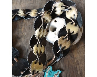 1950s Tribal Belt - Natural Leather - Made in Canada by Eugene Cloutier