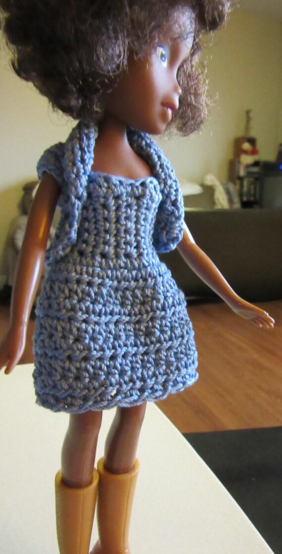 Easy Crochet Doll Skirt Pattern : Bratz Simple Crochet Dress with 3 Skirt Styles PDF by ...