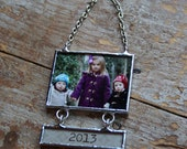 Christmas Photo Ornament, First Christmas, Picture Frame Photo Ornament, Newlywed Christmas Photo Ornament
