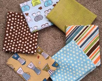 Fabric Destash no. 130 -- 6 Fat Quarters