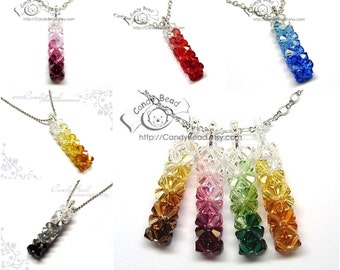 Swarovski necklace;crystal necklace; Color Shade Pendants Necklace (N002-05)