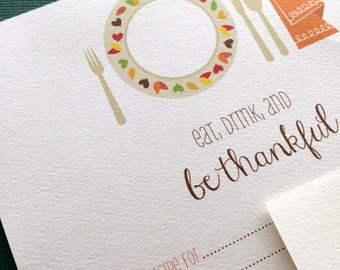 Thanksgiving recipe cards- PDF file