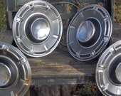 Vintage Set of Four, Ford Hubcaps