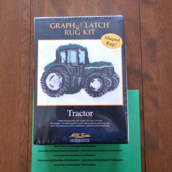 Mcg Textiles 37649 Tractor Shaped Rug Latch Hook Kit