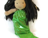 Waldorf doll mermaid tail, slinky mermaid outfit in your choice of color, doll dress up mermaid tail