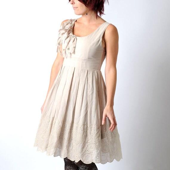 Heart cutout dress, grey backless dress, Light grey cotton dress with back heart cutout, size S-M