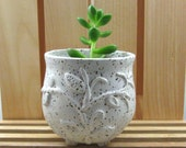 "Smal Planter - Cache Pot for 2"" plant - Hand Thrown Stoneware Pottery"