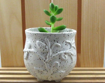 """Smal Planter - Cache Pot for 2"""" plant - Hand Thrown Stoneware Pottery"""