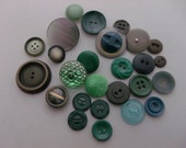 CLEARANCE Cottage green Vintage Antique Collectors buttons lot of 20 +