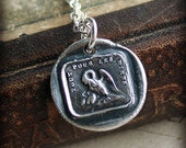 A Mothers Love Wax Seal Charm necklace - Family -  Live and Die for Those We Love - FS605