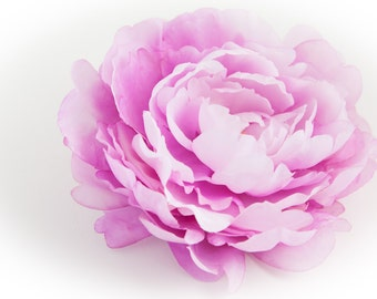 Extra Large Dry Silk Peony in Two Tone Orchid Purple - 7 inches -- Silk Artificial Flower - ITEM 0756