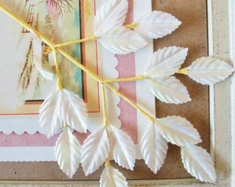 Vintage / Leaves / One Sprig / Fifteen Leaves / Made in Japan / Ombre