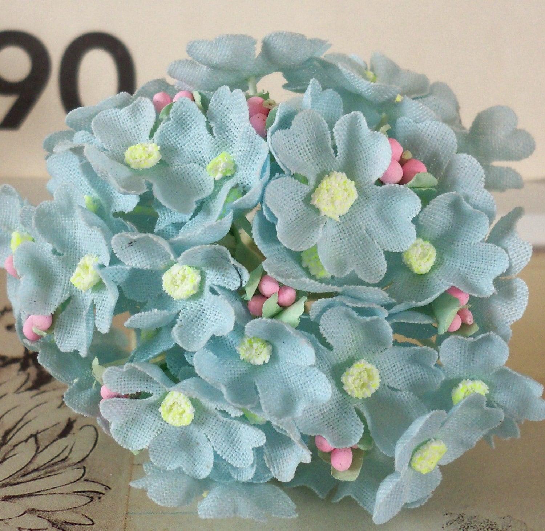 Pale Blue Hydrangea Bridesmaid Bouquet |Light Blue Hydrangea Bouquet