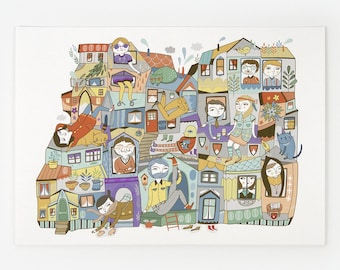 Urban Jungle - Giclee Print