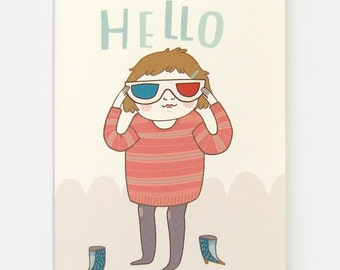 3D Hello  - Greeting Card