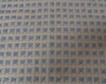 Morgan Jones Chenille Bedspread Blue Rosebud Fabric  sewbuzyb