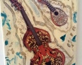 Sorry, Sold --- Antique Italian Instruments Canvas