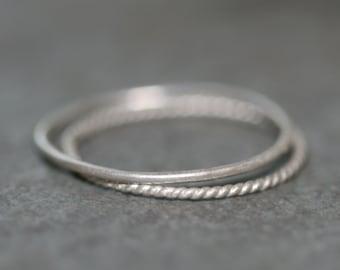Ultra Thin Midi Ring in Silver