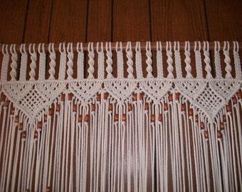 Curtain In Macrame Bead Fringed Door Curtain