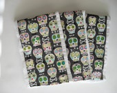 Burp Cloths, Sugar Skull Burp Cloths, Day of the Dead Burp Cloths, Unisex Burp Cloths, Baby Gift, Shower Gift, Baby Girl Gift, Baby Boy Gift