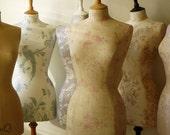 Home Decor Mannequin Kate Forman English Rose Linen Dressform - Amelia