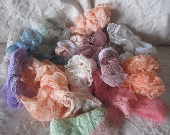Assorted lace in many colors,brand new, over 20 yards