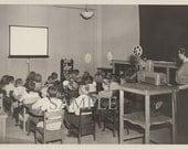 1950s School Children Watching a Film - Digital Download - Vintage Photo Ephemera