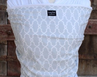 Organic Cotton Baby Wrap Sling Carrier-Rectangle Quatrefoil -DvD Included-One Size Fits ALL