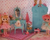 RESERVED... Vintage Doll Vanity..Super Pretty for Blythe, Fashion Royalty, Pullip, Monster High Dolls.