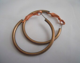 Vintage Industrial Large  Hoop Earrings