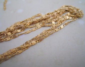5 Ft Vintage  Brass Filigree  Chain