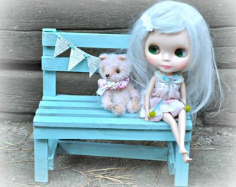 Wooden Bench for Blythe or other like sized dolls