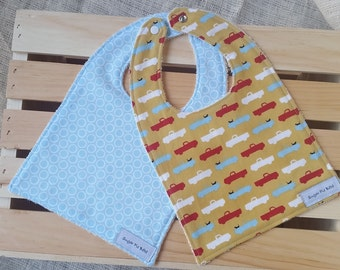 Baby Boys Bibs / Baby Boy Gift / Baby Shower Gifts / Pooches and Pick-ups Bibs