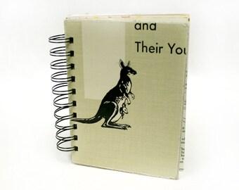 Mama Kangaroo - Wire-Bound Recycled Art Journal
