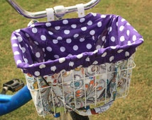 Whimsical Peacocks Bike Basket Liner and Purse in One