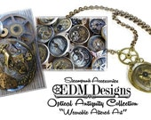 Steampunk Necklace Vintage Optical THICK Lens Brass BOLD Gears Key Watch Steam Punk Mens Women's Wedding Anniversary - Jewelry by edmdesigns